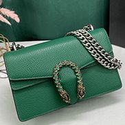 Jess Small Leather Shoulder Bag Green