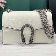 Jess Small Leather Shoulder Bag White