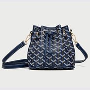 Germaine Vegan Leather Mini Bucket Bag Blue
