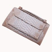 Elizabeth Python Leather Clutch Wallet Apricot