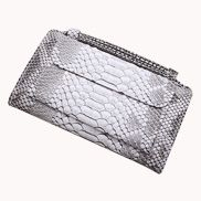 Elizabeth Python Leather Clutch Wallet Grey