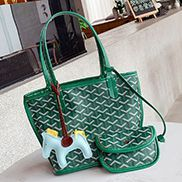 Germaine Vegan Leather Small Tote Green