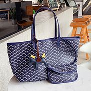 Germaine Vegan Leather Large Tote Blue