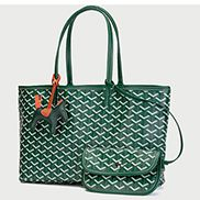 Germaine Vegan Leather Large Tote Green