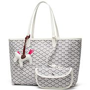 Germaine Vegan Leather Large Tote White
