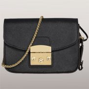 Glamvogue Leather Shoulder Bag Black
