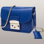 Glamvogue Leather Shoulder Bag Blue
