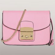 Glamvogue Leather Shoulder Bag Pink