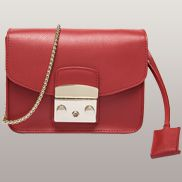 Glamvogue Leather Shoulder Bag Red