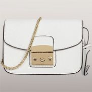 Glamvogue Leather Shoulder Bag White