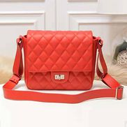 Hanna Leather Shoulder Bag Red