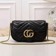 Hannah Small Flap Bag Leather CG Logo Black