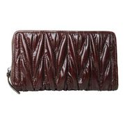 Florence Leather Zippy Organizer Dark Brown