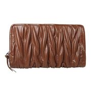 Florence Leather Zippy Organizer Brown
