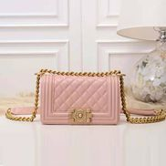 Ingrid Caviar Leather Small Flap Bag Pink