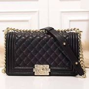 Ingrid Diamond Shape Caviar Leather Flap Bag Black
