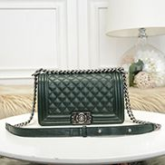 Ingrid Litchi Leather Flap Green