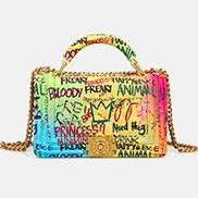 Ingrid Shoulder Bag Vegan Leather Graffiti