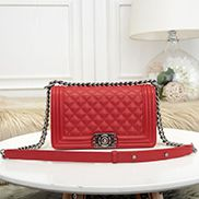 Ingrid Litchi Leather Flap Red