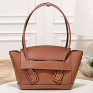 Ivonne Leather Shoulder Bag Brown