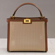Joanne Perforated Leather Bag Beige