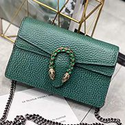 Jess Mini Leather Shoulder Bag Green