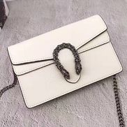 Jess Mini Leather Shoulder Bag White