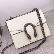 Jess Mini Square Leather Shoulder Bag White