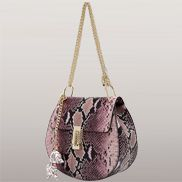 Joy Drew Faux Leather Shoulder Bag Python Purple