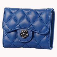Kimberly Wallet Lambskin Leather Blue