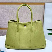 Loretta Large Tote In Leather Yellow