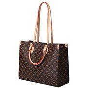 Louisa Flower Vegan Leather Small Shopping Tote