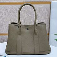 Loretta Large Tote In Leather Light Grey