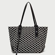 The Ultimate Nylon Shopping Bag Black White