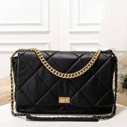 Lilia Flap Large Leather Bag Black