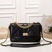 Lilia Flap Medium Leather Bag Black