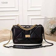 Lilia Flap Small Leather Bag Black
