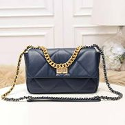 Lilia Flap Small Leather Bag Blue