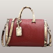 Lindsey Leather Top Handle Bag Red