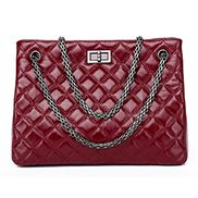 Lucia Tote Cowhide Leather Burgundy