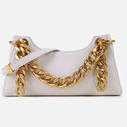 Mariana Smooth Leather Shoulder Bag White