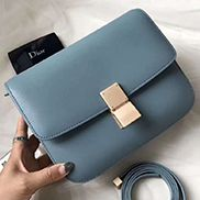 Martha Classic Leather Bag Blue