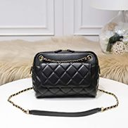 Marisela Leather Shoulder Small Bag Black