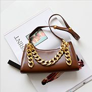Mariana Smooth Leather Shoulder Bag Brown