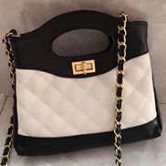 Martina Leather Mini Shipping Bag White