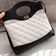 Martina Leather Shipping Bag White