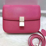 Martha Classic Leather Bag Hot Pink
