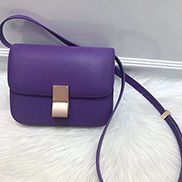 Martha Classic Leather Bag Purple