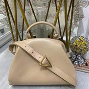 Mia Soft Leather Shoulder Bag Beige