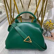 Mia Soft Leather Shoulder Bag Green